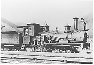 """RGS Shay locomotive #269 """"Guston"""" originally used on the Silverton Railroad.  D&RGW inventory lists this as RGS #34.<br /> RGS  Silverton, CO  Taken by McClure, Louis Charles - spring 1892<br /> In book """"RGS Story, The Vol. IX: Over the Bridges? Grady to Durango"""" page 268<br /> See RD155-036 for original.<br /> Also in """"Silver San Juan"""", p. 72."""