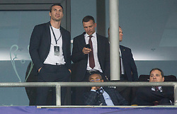 Vitaliy Klitschko during the UEFA Champions League final football match between Liverpool and Real Madrid at the Olympic Stadium in Kiev, Ukraine on May 26, 2018.Photo by Sandi Fiser / Sportida