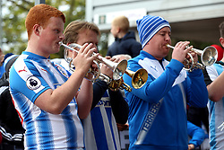 A Huddersfield Town band plays before the Premier League match at the John Smith's Stadium, Huddersfield.