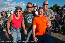 AJ and friends at the 23rd Annual POW/MIA Freedom Ride and 28th  Anniversary of the Vigil in honor of POW/MIAs and their families by the Meredith docks during Laconia Motorcycle Week 2016. USA. Thursday, June 16, 2016.  Photography ©2016 Michael Lichter.