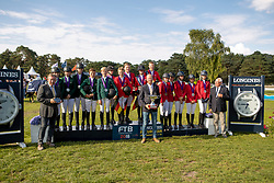 Team Germany, Team Ireland,Team Belgium, Van den Branden Elise, Guisson Aurelia, Vandousselaere Paris, Putters Evelyne, Ameeuw Louise, Mathijs Jean-Jacques<br /> European Championship Children, Juniors, Young Riders - Fontainebleau 1028<br /> © Hippo Foto - Dirk Caremans<br />  Team Germany, Team Ireland,Team Belgium, Van den Branden Elise, Guisson Aurelia, Vandousselaere Paris, Putters Evelyne, Ameeuw Louise, Mathijs Jean-Jacques