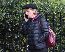 © Licensed to London News Pictures. 08/05/2019. London, UK. Change UK MP and remain campaigner, ANNA SOUBRY is seen talking on her phone in Westminster. Talks between Number 10 and Labour party officials continue in an attempt to reach an agreement on a withdrawal agreement from the EU. Photo credit: Ben Cawthra/LNP