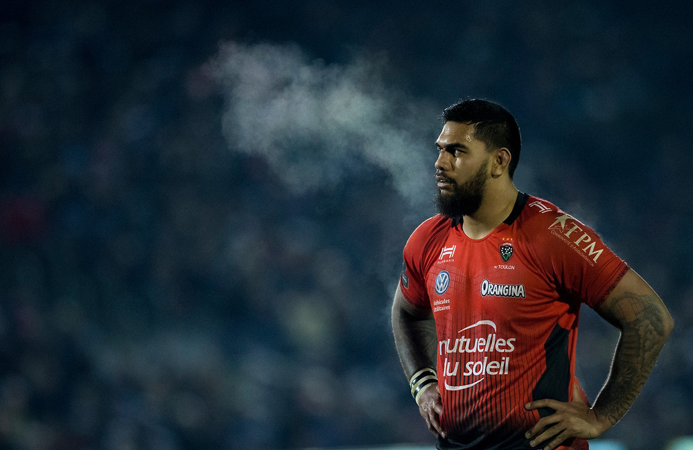 Toulon's Romain Taofifenua<br /> <br /> Photographer Bob Bradford/CameraSport<br /> <br /> European Rugby Champions Cup Pool 5 - Bath Rugby v Toulon - Saturday 16th December 2017 - The Recreation Ground - Bath<br /> <br /> World Copyright © 2017 CameraSport. All rights reserved. 43 Linden Ave. Countesthorpe. Leicester. England. LE8 5PG - Tel: +44 (0) 116 277 4147 - admin@camerasport.com - www.camerasport.com