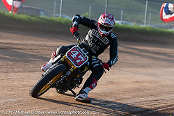 Hooligan flattracker no. 47 Jordan Graham in his Indian racer  in the Spirit of Sturgis races at the fairgrounds during the Sturgis Black Hills Motorcycle Rally. Sturgis, SD, USA. Monday, August 5, 2019. Photography ©2019 Michael Lichter.