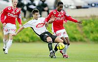 Fotball , 6. mars 2007 , La Manga , Bryne - Sogndal 2-1<br /> Mammoudo Diallo  , Bryne og Lubienieski Damel , Sogndal