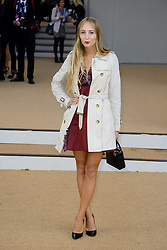 Arrivals for Burberry Prorsum Spring / Summer 2014. <br /> Harley Viera Newton arrives for the Burberry Prorsum Spring / Summer 2014 show, London, United Kingdom. Monday, 16th September 2013. Picture by Chris Joseph / i-Images