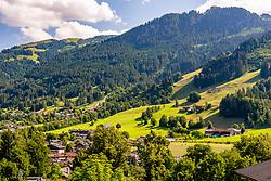 THEMENBILD - Das Zielgelände des hahnenkammrennen, aufgenommen am 12. Juli 2018, Kitzbuehel, Oesterreich // The finish area of the hahnenkamm race at Kitzbuehel, Austria on 2018/07/12. EXPA Pictures © 2018, PhotoCredit: EXPA/ Stefan Adelsberger