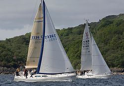 Silvers Marine Scottish Series 2017<br /> Tarbert Loch Fyne - Sailing Day 3<br /> <br /> 2336C, Shearwater, Garth and Erica Wilson, Fairlie Yacht Club, Moody 336