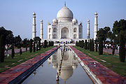 India Uttar Pradesh Agra The Taj Mahal landmark