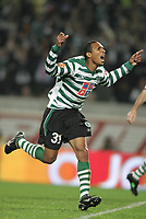 """LISBOA 21 MARCH 2005: # and # in the 26 leg of the Super Liga, season 2004/2005, match  Sporting CP (2) vs FC Porto (0), held in """"Alvalade XXI"""" stadium,  21/03/2005  21:52:32<br /> (PHOTO BY: NUNO ALEGRIA/AFCD)<br /> <br /> PORTUGAL OUT, PARTNER COUNTRY ONLY, ARCHIVE OUT, EDITORIAL USE ONLY, CREDIT LINE IS MANDATORY AFCD-PHOTO AGENCY 2004 © ALL RIGHTS RESERVED"""