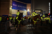 Football - 2019 / 2020 UEFA Champions League - Round of Sixteen, First Leg: Chelsea vs. Bayern Munich<br /> <br /> Police stewarding the away fans, at Stamford Bridge.<br /> <br /> COLORSPORT/ASHLEY WESTERN