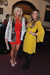 Left to right, FRANKIE ESSEX and LAUREN GOODGER attend the premier of 2012 Cirque du Soleil's Totem at the Royal Albert Hall, London on 5th January 2012,