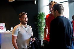 Bristol City Manager Lee Johnson chats to fans - Mandatory by-line: Robbie Stephenson/JMP - 20/06/2016 - FOOTBALL - Ashton Gate - Bristol, United Kingdom  - England vs Slovakia - UEFA Euro 2016