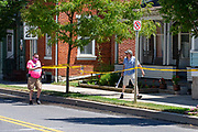 Vincent Yonai of Mifflinburg used caution tape to block off the sidewalk on half a block of Chestnut Street during the Mifflinburg Pride Event. As a pedestrian entered the taped-off area, Yonai retrieved a bat and went toward the man in a threatening manner and demanded that he get off of the sidewalk. Yonai was eventually taken away in handcuffs by Mifflinburg Police.