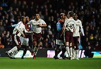 Football - Barclays Premiership - Aston Villa vs. Sunderland<br /> Aston Villa's Gabriel Agbonlahor and Jordan Henderson of Sunderland clash leading to a mass brawl and the sending off of Emile Heskey at Villa Park, Birmingham