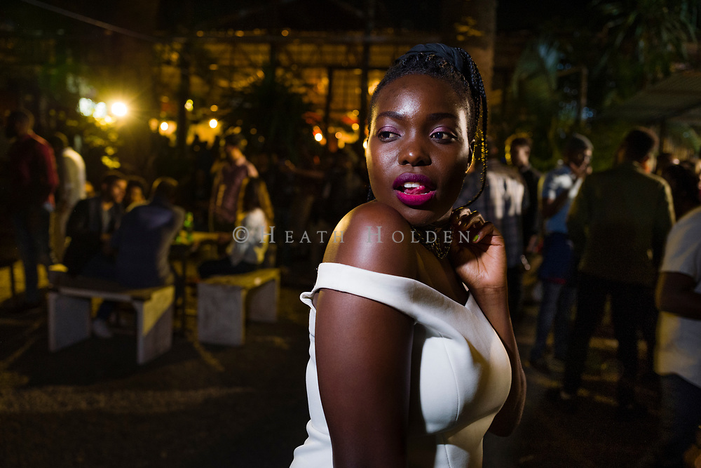 Nightlife glamour is abundant inthe  popular Westlands bar, Js, in Nairobi Kenya on Thursday 19th of September.