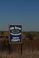 11/7/07 Smith Center, KS.Sign leading into Smith Center KS...(Chris Machian/Prairie Pixel Group)