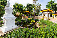 Bhutan Pavilion at Royal Park Ratchpruek - During tihe celebrations for the King of Thailand's 60th anniversary of his accession to the throne, Ratchapruek Royal Gardens in Chiang Mai put on a great show of flowers, gardens, and displays.  Besides Thailand, 21 countries participated by contributing gardens, including Bhutan, that still stand today.