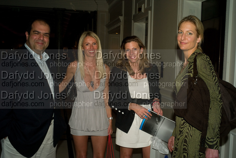 Stelios Haji-Ioannou, Dr. Andrew Magauran, KATINKA BARYSCH AND HELEN MACINTYRE, The Spectator 180th Anniversary party, at the Churchill Hotel, London, 7 May 2008.  *** Local Caption *** -DO NOT ARCHIVE-© Copyright Photograph by Dafydd Jones. 248 Clapham Rd. London SW9 0PZ. Tel 0207 820 0771. www.dafjones.com.