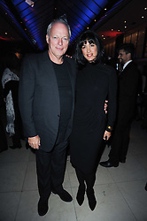 DAVID GILMOUR and POLLY SAMSON  at the Costa Book Awards 2009 held at Quaglino's, 16 Bury Street, London SW1 on 26th January 2010.