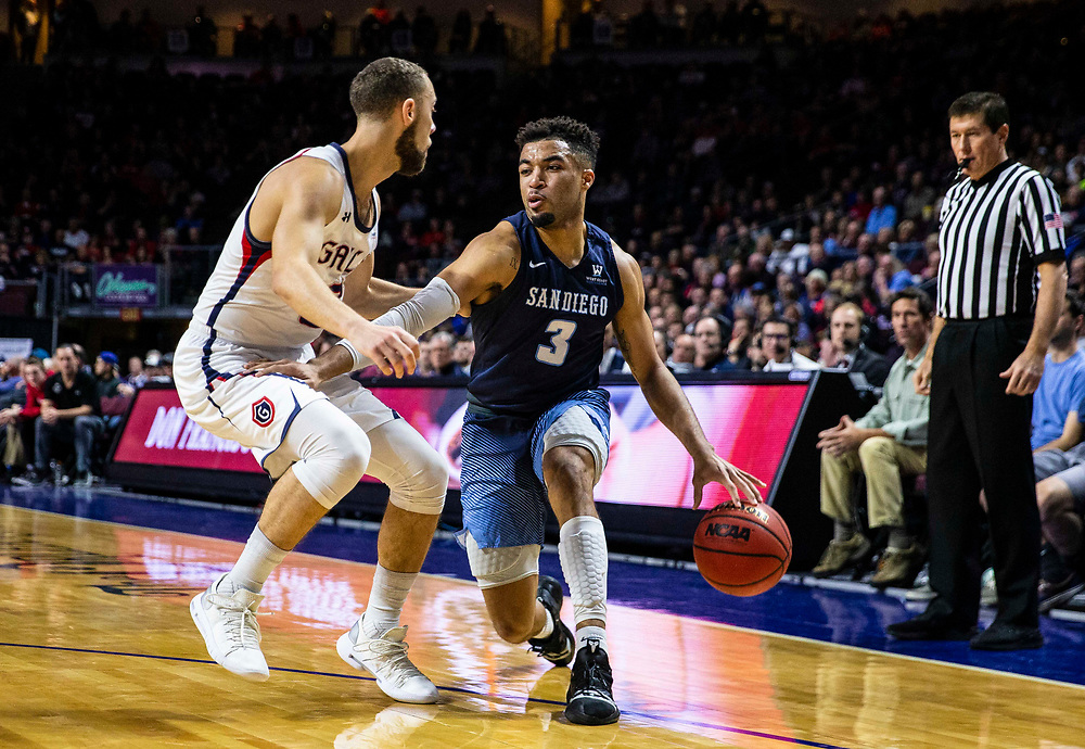 Mar 11 2019  Las Vegas, NV, U.S.A. San Diego Toreros guard Olin Carter III (3) drives to the basket during the NCAA  West Coast Conference Men's Basketball Tournament semi -final between the San Diego Toreros and the Saint Mary's Gaels 62-69 lost at Orleans Arena Las Vegas, NV.  Thurman James / CSM