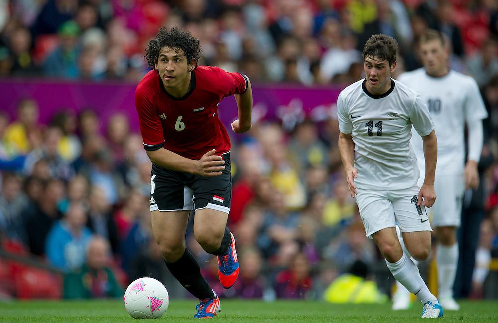 Egypt's Ahmed HEGAZI ..2012 London Olympics - Football - Group C - Egypt v New Zealand - Sunday 29th July 2012 - Old Trafford - Manchester ..