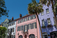 """Rainbow Row"" on East Bay Street in Charleston."