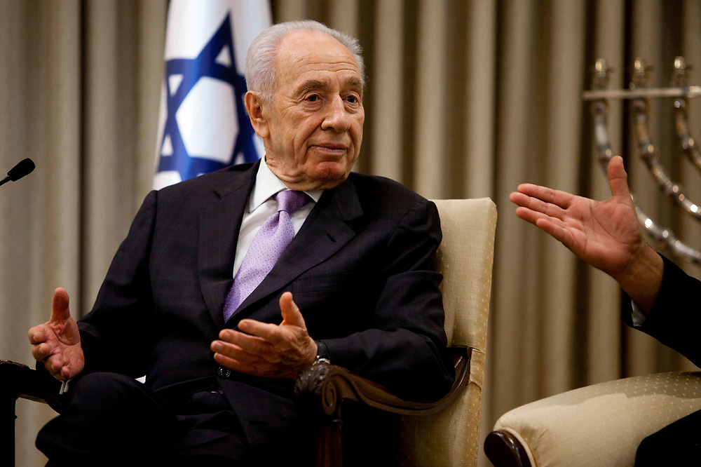 A portrait of Israel's President Shimon Peres, at the President's Residence in Jerusalem on July 25, 2011.