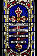 Church of Saint Mary Magdalene stained glass window, Thornham Magna, Suffolk, England, UK
