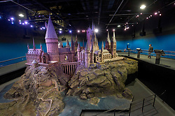 © Licensed to London News Pictures 27/02/2011 London, UK. .Hogwarts Castle model inside The Warner Brothers Studio Tour, Leavesden, Herts where all 8 Harry Potter movies were made and opens to the public this week..Photo credit : Simon Jacobs/LNP