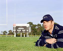 Paul Newman look a like on a football field