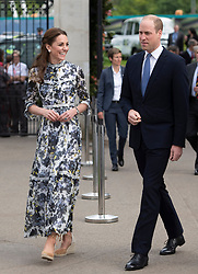 The Duke and Duchess of Cambridge during their visit to the RHS Chelsea Flower Show at the Royal Hospital Chelsea, London.