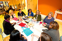 Tory Burch meets with women entrepreneurs in Chicago as apart of her mentoring program.