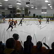 Hamden High School girls ice hockey teamduring a game  against Simsbury at Hamden High School Ice Rink, Hamden, Connecticut, USA. 20th February 2014. Photo Tim Clayton