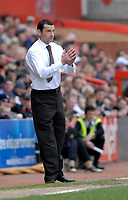 Photo: Leigh Quinnell.<br /> Bristol City v Nottingham Forest. Coca Cola League 1. 31/03/2007. Forest manager Colin Calderwood prays for a win.