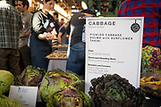 Cabbage, Brassica oleracea<br /> Showcase: Breeding lines and heritage French varieties Breeders: Organic Seed Alliance, Veronique Chable, INRA and Jean-Martial Morel, Kaol Kozh<br /> Chef: Bonnie Morales, Kachka