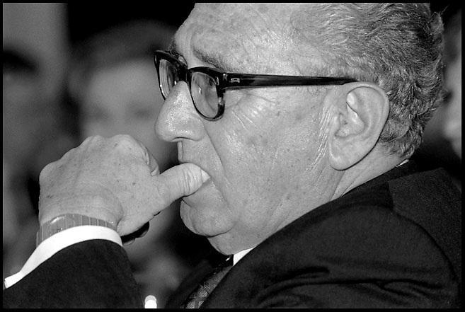 Henry Kissinger attends a meeting in New York City on June 2, 1992.