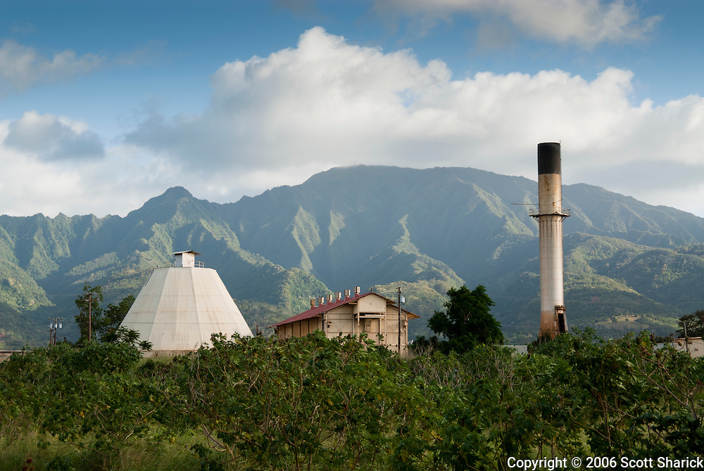 The defunct sugar mill in Waialua, Oahu in Hawaii