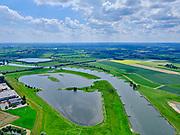 Nederland, Gelderland, Gemeente Deventer, 21–06-2020; rivier de IJssel bij Deventer, zicht op de Wilpse Plas en Rijksweg A1.<br /> River IJssel near Deventer, view of the Wilpse Plas and motorway A1.<br /> <br /> luchtfoto (toeslag op standaard tarieven);<br /> aerial photo (additional fee required)<br /> copyright © 2020 foto/photo Siebe Swart