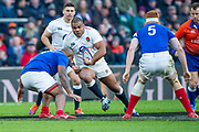 Twickenham, United Kingdom. 7th February, Kyle SINCKLER, running with the ball, during the England vs France, 2019 Guinness Six Nations Rugby Match   played at  the  RFU Stadium, Twickenham, England, <br /> © PeterSPURRIER: Intersport Images