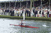 Henley on Thames, United Kingdom,  Princess Royal Challenge Cup<br /> Helen Mangan makes her way to the start throgh the Stewards Enclosure at the  Annual 2002 Henley Royal Regatta, Henley Reach, River Thames, England, [Mandatory Credit: Peter Spurrier/Intersport Images] 20020703 Henley Royal Regatta, Henley, Great Britain