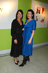 Left to right, Founders of Fashionart.com EVE STONER and VICTORIA PEARCE at a party to celebrate the launch of FashionArt.com held at 51 Frith Street, London on 7th December 2005.<br /><br />NON EXCLUSIVE - WORLD RIGHTS