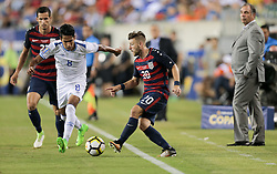 July 19, 2017 - Philadelphia, PA, USA - Philadelphia, PA - Wednesday July 19, 2017: Dennis Pineda, Paul Arriola during a 2017 Gold Cup match between the men's national teams of the United States (USA) and El Salvador (SLV) at Lincoln Financial Field. (Credit Image: © John Dorton/ISIPhotos via ZUMA Wire)