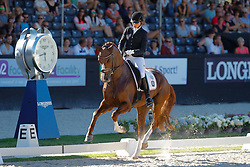 Strobel Laura, GER, Villeneuve<br /> World ChampionshipsYoung Dressage Horses<br /> Ermelo 2018<br /> © Hippo Foto - Stefan Lafrentz<br /> 05/08/2018