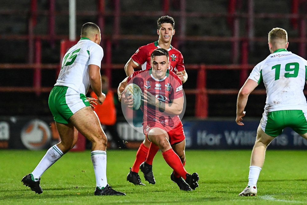 11th November 2018 , Racecourse Ground,  Wrexham, Wales ;  Rugby League World Cup Qualifier,Wales v Ireland ; James Olds of Wales in action<br /> <br /> <br /> Credit:   Craig Thomas/Replay Images