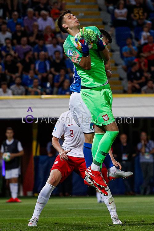 """Foto Alessandro Castaldi<br /> 19/06/2019 Bologna (Italia)<br /> Sport - Italia - Pologna - UEFA Campionati Europei Under-21 2019 - Stadio """"Renato Dall'Ara""""<br /> Nella foto: GRABARA KAMIL (POLAND)<br /> <br /> Photo Alessandro Castaldi<br /> June 16, 2019 Bologna (Italy)<br /> Sport Soccer<br /> Italy vs Poland - UEFA European Under-21 Championship 2019 - """"Renato Dall'Ara"""" Stadium <br /> In the pic: GRABARA KAMIL (POLAND)"""