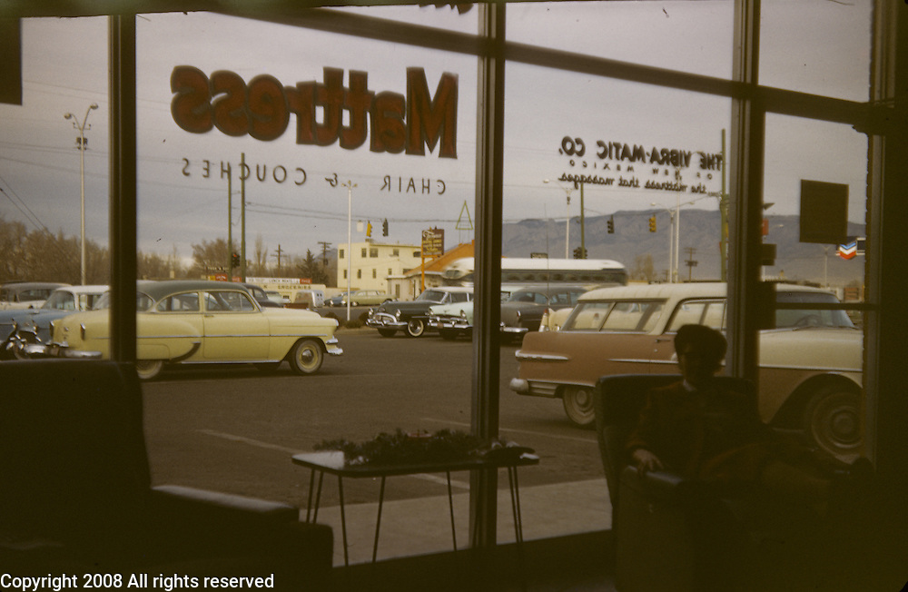 Vibramatic store in Albuquerque, N.M. photographed in September 1956.