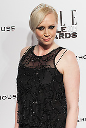 © Licensed to London News Pictures. 18/02/2014. London, UK. Gwendoline Christie arrives on the red carpet for the Elle Style Awards on the Embankment in central London. Photo credit : Andrea Baldo/LNP
