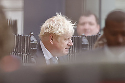 © Licensed to London News Pictures. 13/09/2021. London, UK. Prime Minister Boris Johnson leaves Downing Street. The government are expected to set out their covid-19 strategy for the coming winter this week. Photo credit: Peter Macdiarmid/LNP