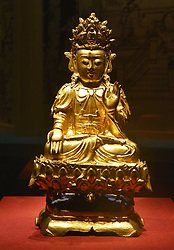September 10, 2017 - Shenyan, Shenyan, China - Shenyang, CHINA-10th September 2017: (EDITORIAL USE ONLY. CHINA OUT)..The ancient Buddha statue exhibition is held at the Liaoning Museum in Shenyang, northeast China's Liaoning Province, September 10th, 2017. (Credit Image: © SIPA Asia via ZUMA Wire)